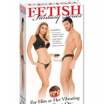 FETISH FANTASY SERIES VIBRATING HOLLOW STRAP-ON FL
