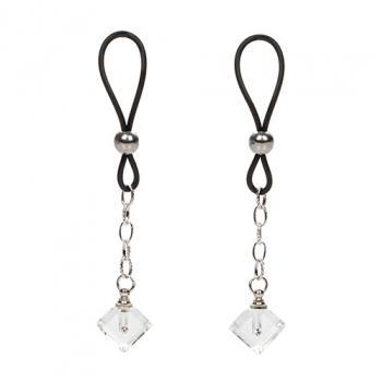 SE-2615-20-2 Nipple Play Non Piercing Nipple Jewelry Crystal Gem