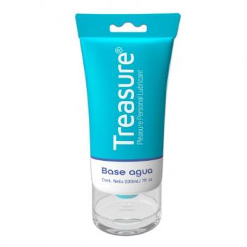 LUBRICANTE PERSONAL TREASURE BASE AGUA 200 ML 7OZ