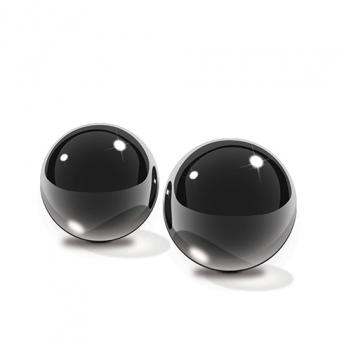 PD4433-23 Black Glass Ben Wa Balls Small