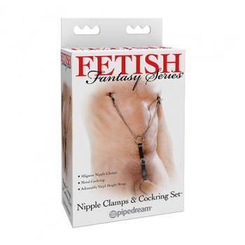 PD2119-23 Nipple Clamps and Cockring Set